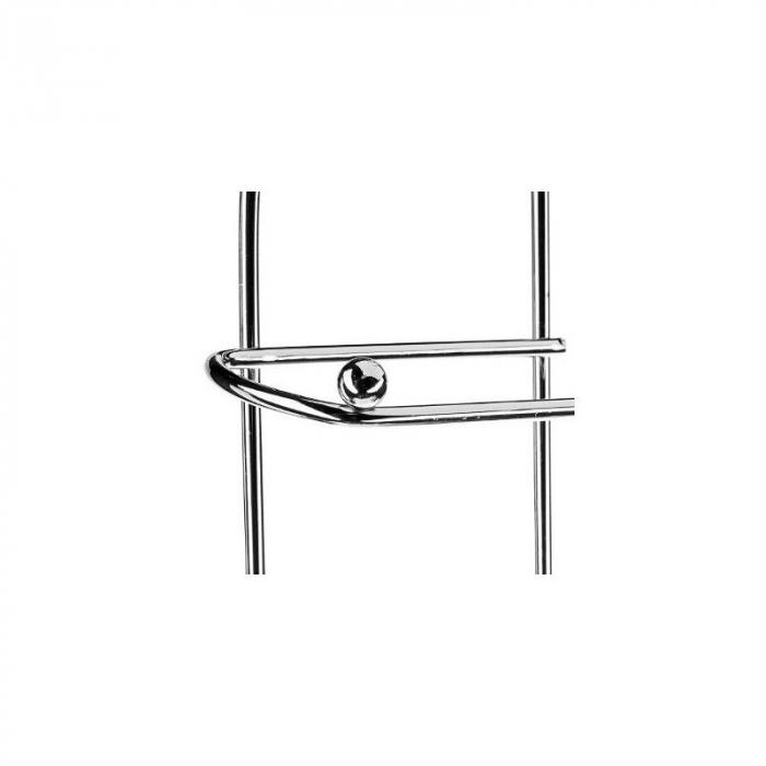 Suport metalic, pentru hartie igienica si role rezerva pe un piedestal, 15,5 x 15,5 x 66 cm 7