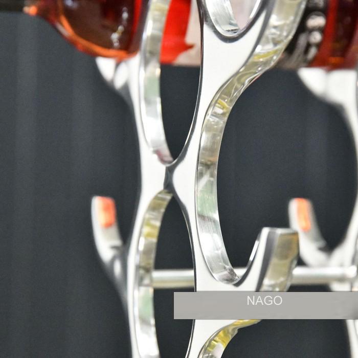 Suport modern pentru Sticle de Vin, din Aluminiu, capacitate 27 sticle, Argintiu, 100 cm x 33.5 cm 11