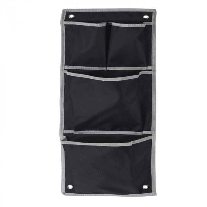 Suport organizare 4 compartimente poliester, Dim 20x57 cm , negru 1