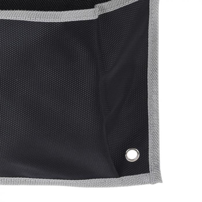 Suport organizare 4 compartimente poliester, Dim 20x57 cm , negru 4
