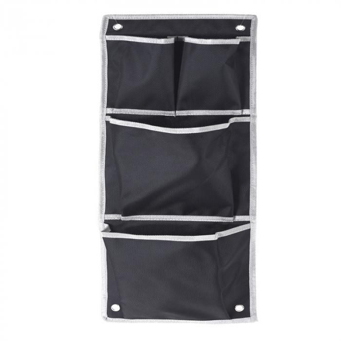 Suport organizare 4 compartimente poliester, Dim 20x57 cm , negru 0