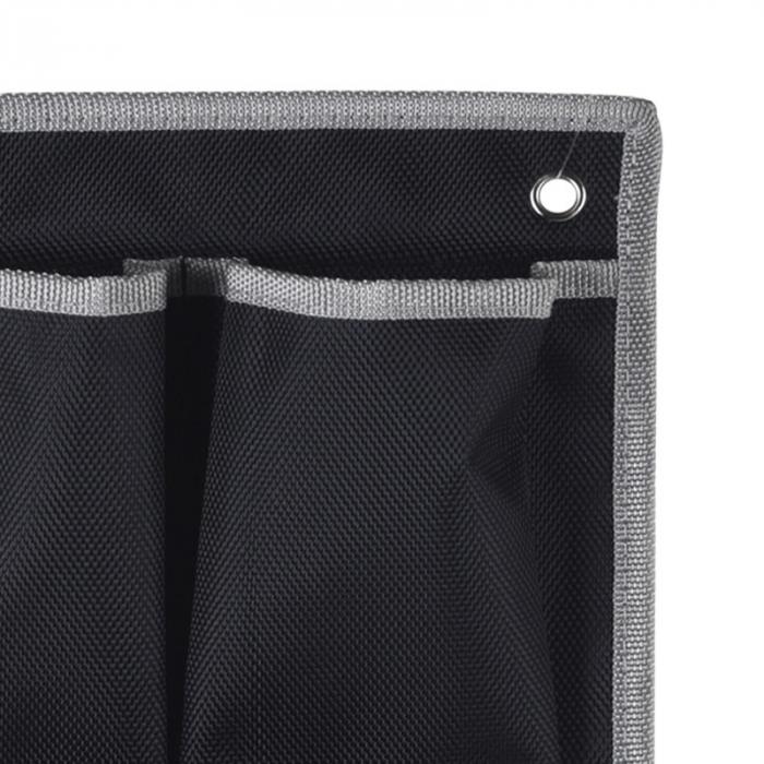 Suport organizare 4 compartimente poliester, Dim 20x57 cm , negru 3