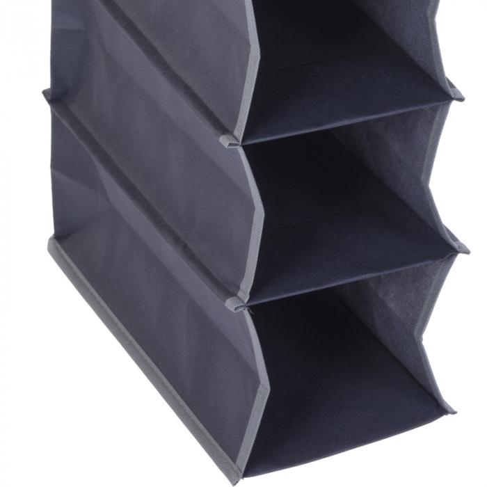 Suport organizare cu 10 rafturi, poliester, Dim 30x15x120 cm 2