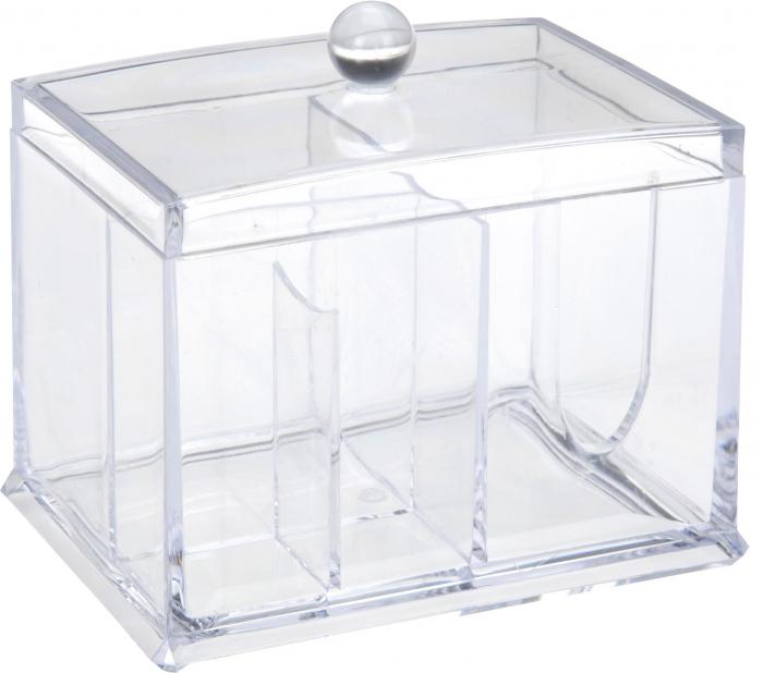 Suport compartimentat, pentru organizare cosmetice, NAGO®, Plexiglas, 15x11x12.5 cm, Transparent 0
