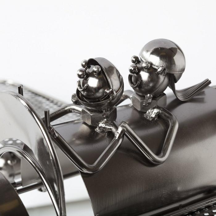 Suport pentru Sticla de Vin din Metal, model Avion, Capacitate 1 Sticla, Cupru, H30cm L 49 cm 8