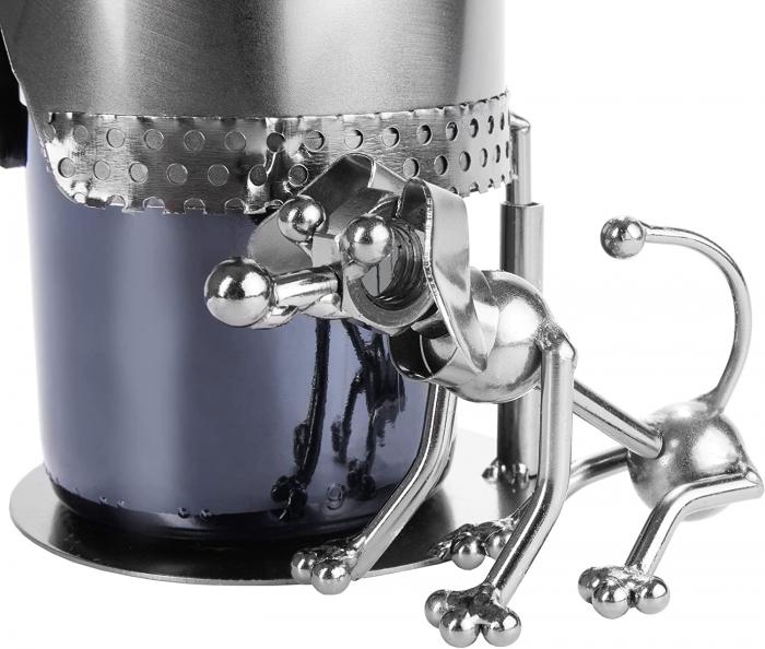 Suport pentru Sticla de Vin din Metal, model Vanator, Capacitate 1 Sticla, Cupru, H 32cm [3]