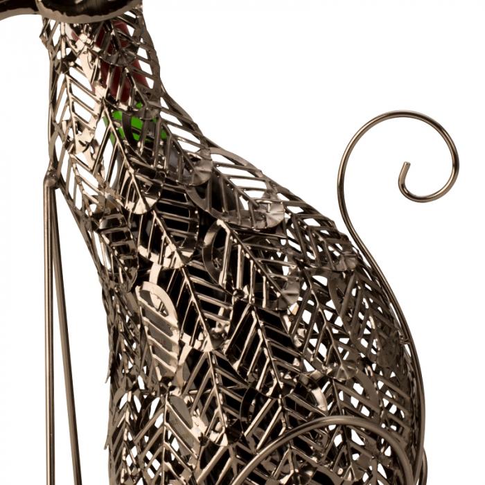 Suport Sticla de Vin, din Metal, model Pisica, 41 cm 3