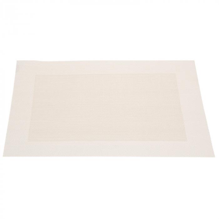 Table mat alb cu auriu deschis 0