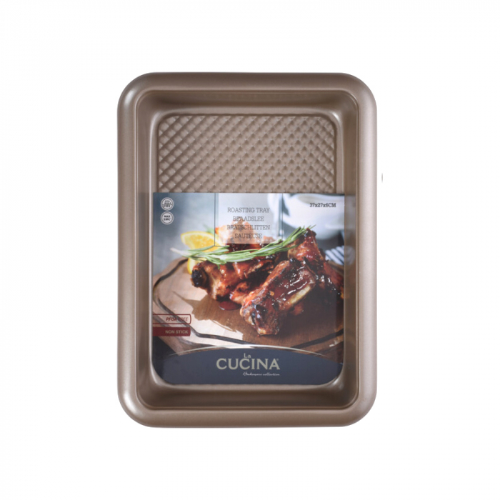 Tava cuptor, otel inoxidabil, 37X27X6 cm, 2900 ml, Bej 1