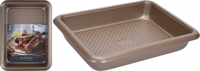 Tava cuptor, otel inoxidabil, 37X27X6 cm, 2900 ml, Bej 5