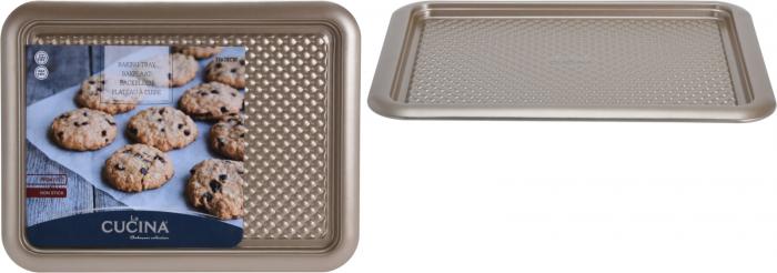 Tava cuptor otel inoxidabil, 37X28X1.6 cm, 600 ml, culoare Bej [2]