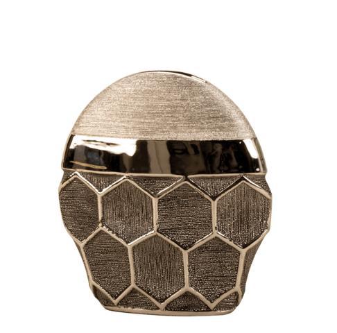 Vaza argintie, 24 cm, cu model fagure [4]