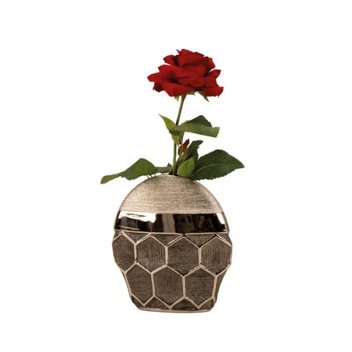 Vaza argintie, 24 cm, cu model fagure [1]