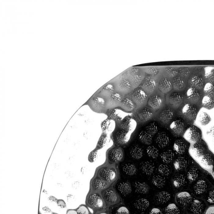 Vaza Argintie Nichelata, Sferica, inaltime 27 cm 6
