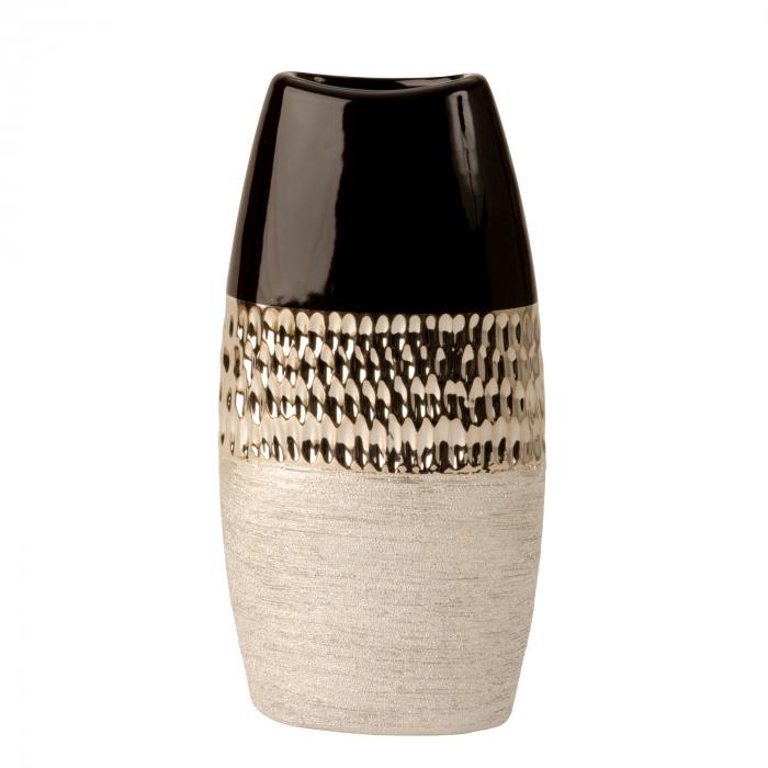 Vaza Ceramica, Antracit cu Argintiu, 29x15 cm 4