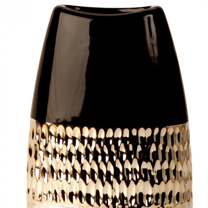 Vaza Ceramica, Antracit cu Argintiu, 29x15 cm 2