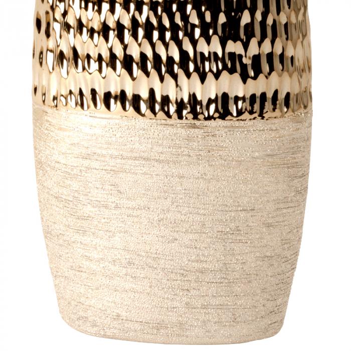 Vaza Ceramica, Antracit cu Argintiu, 29x15 cm 3