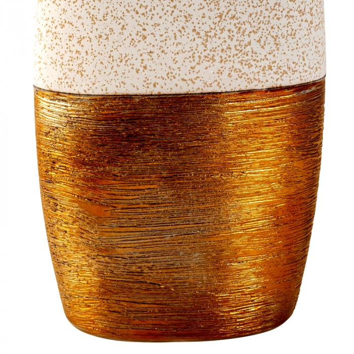 Vaza Ceramica, Auriu cu Crem, 29x15 cm [2]