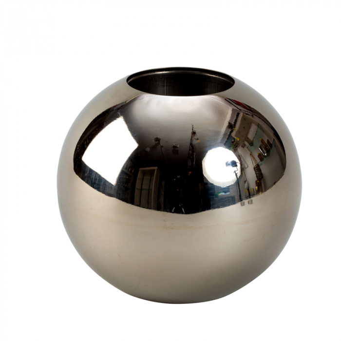 Vaza sfera din otel inoxidabil diametru 15 cm 0