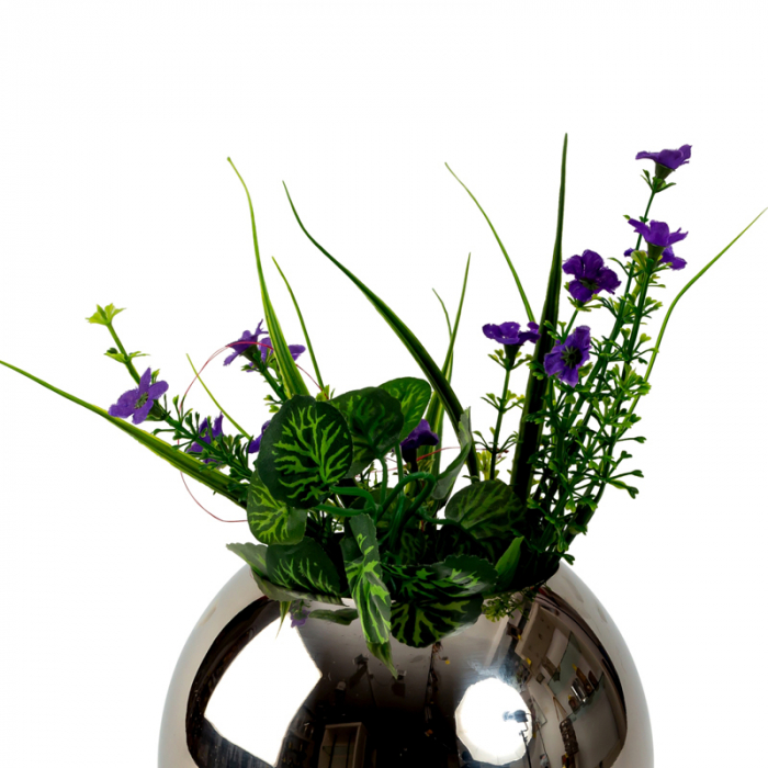 Vaza sfera din otel inoxidabil diametru 15 cm 3