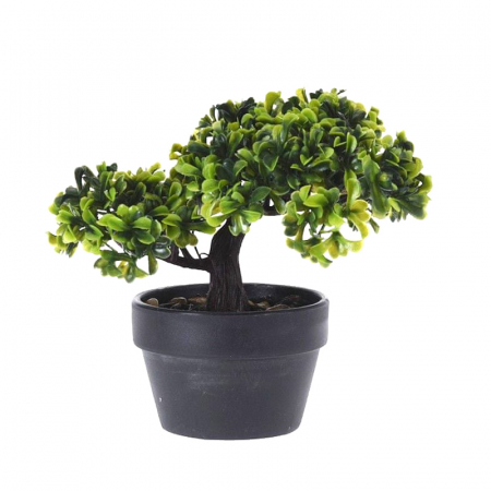 Bonsai artificial, 19 cm, verde deschis si inchis1