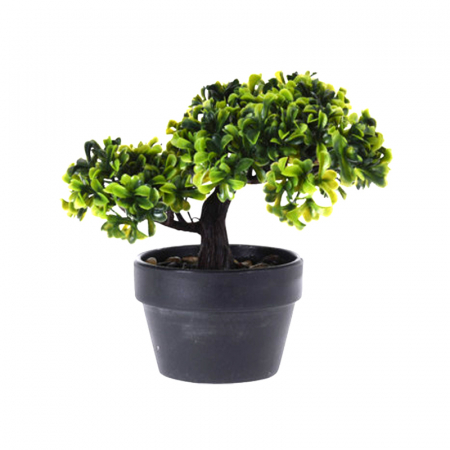 Bonsai artificial, 19 cm, verde deschis si inchis0