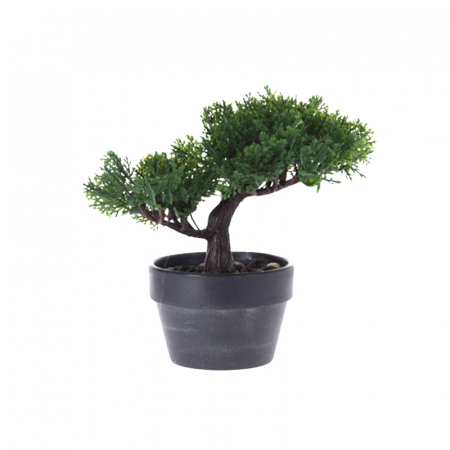 Bonsai artificial 19 cm verde inchis1