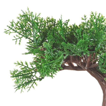 Bonsai artificial 19 cm verde inchis2