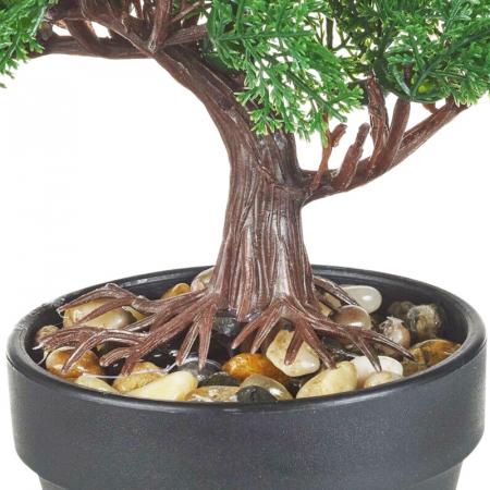 Bonsai artificial 19 cm verde inchis5