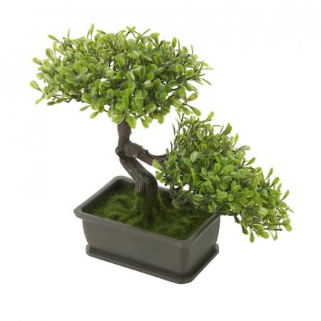 Bonsai artificial 23cm verde deschis12