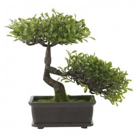 Bonsai artificial 23cm verde deschis1