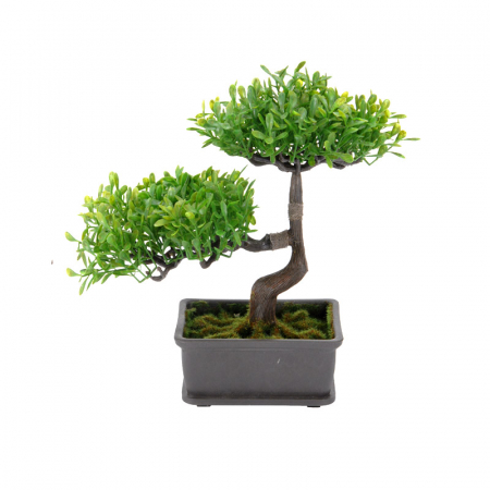 Bonsai artificial 23cm verde deschis1