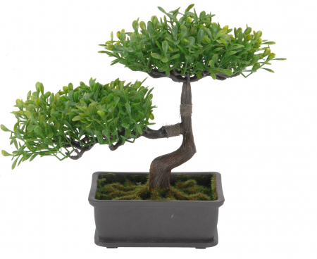 Bonsai artificial 23cm verde deschis0