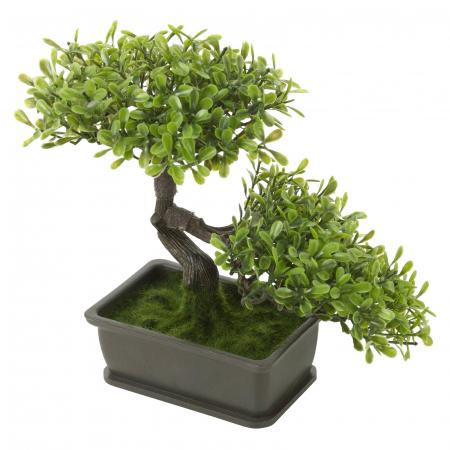 Bonsai artificial 23cm verde deschis2