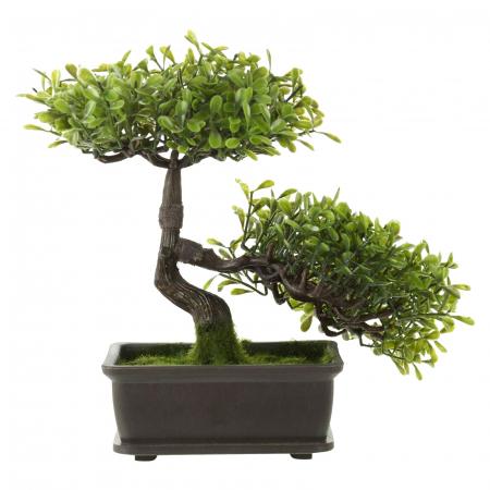 Bonsai artificial 23cm verde deschis11