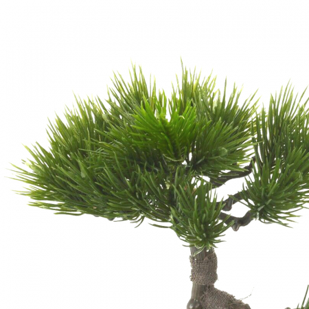 Bonsai artificial 23cm verde inchis tip pin5