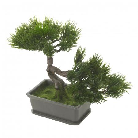 Bonsai artificial 23cm verde inchis tip pin4