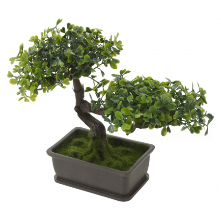 Bonsai artificial, Verde deschis si inchis, dimensiunea de 23cm [3]