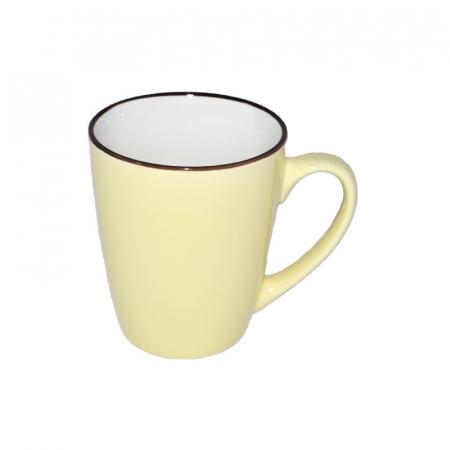 Cana de portelan, culoare galbena, 225 ml1