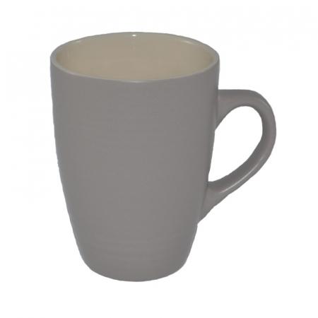 Cana din ceramica, aspect mat, Gri/bej, 300 ml0
