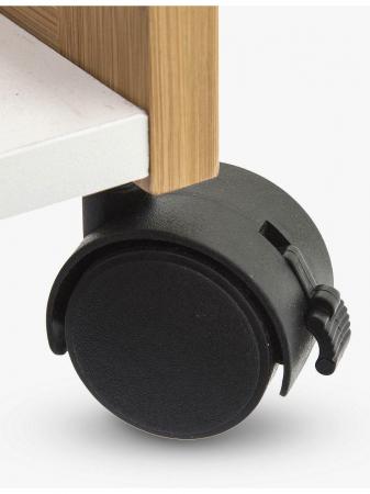 Carucior cu 4 roti, din bambus, pe trei niveluri, 80 cm, Bej/Alb6