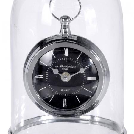 Ceas de masa in cupola sticla, inaltime 32cm, diametru 17cm [5]