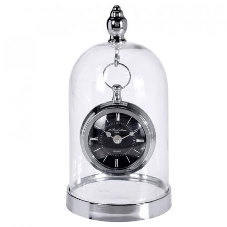 Ceas de masa in cupola sticla, inaltime 32cm, diametru 17cm [0]