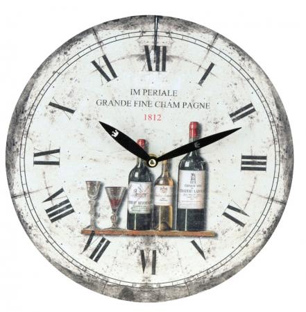 Ceas de perete alb cu model sticla de vin model1