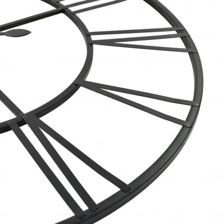 Ceas de Perete, din metal, stil Vitange, Negru, 57x3cm4