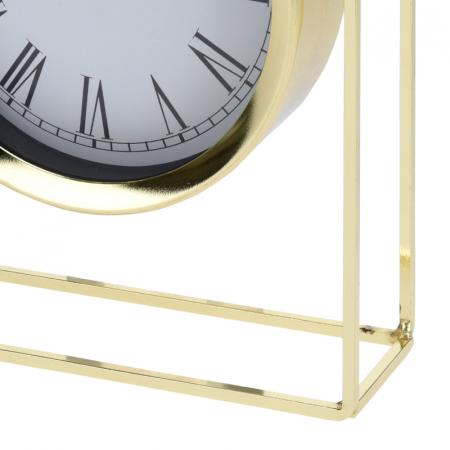 Ceas pe suport metal, stil elegant, 19x5.8x25 cm, Auriu4