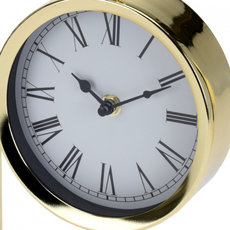Ceas pe suport metal, stil elegant, 19x5.8x25 cm, Auriu6