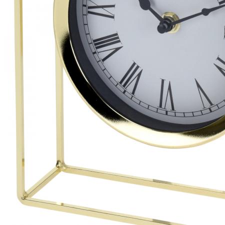 Ceas pe suport metal, stil elegant, 19x5.8x25 cm, Auriu5