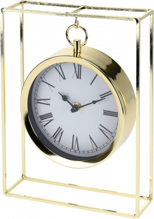 Ceas pe suport metal, stil elegant, 19x5.8x25 cm, Auriu8