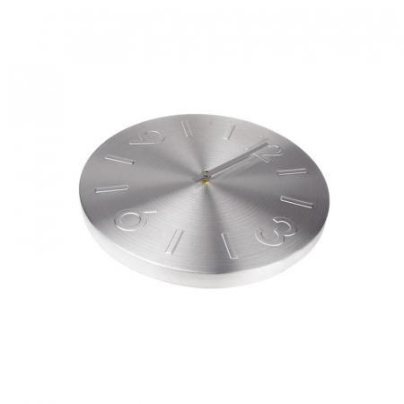 Ceas perete din Aluminiu, cu limbi Argintii, D 35cm, Argintiu2